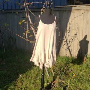 NWT beige rayon spaghetti strap dress -small